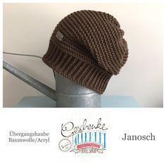 Tunella's Geschenkeallerlei präsentiert: das ist Janosch, eine geniale gehäkelte Haube/Mütze aus einer Baumwolle/Acryl-Mischung - Du kannst dich warm anziehen, dank sorgfältigem Entwurf, liebevoller Handarbeit und deinem fantastischen Geschmack wirst du umwerfend aussehen. #TunellasGeschenkeallerlei #Häkelei #drumherum #Beanie #Haube #Mütze #handgemacht #Geschenk #Janosch