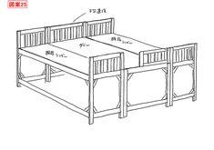よくあるご質問とご要望 ひのきロフトベッド・ミドルベッド[ヒノキ・ワークス] Bed Measurements, Room Interior, Interior Design, Raised Beds, Furnitures, Furniture Design, Loft, Sweet, Home Decor