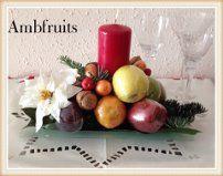 Centro frutas Navidad.