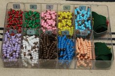 DIY Montessori colored beads - easy enough for anyone to make on a budget! - from Montessori Mischief
