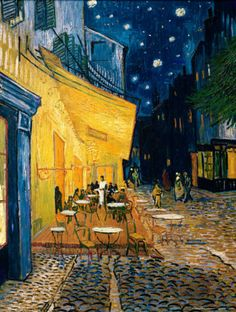 The Café Terrace on the Place du Forum, Arles, at Night, c.1888 ~ Vincent van Gogh