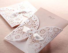 Vintage Spitze Einladung zur Hochzeit/Hochzeitseinladung 2014 mit Spitze Hot online | Kartenpalast Blog---- Palast für Karten