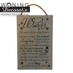 Steigerhout tekstbord  Winter S560