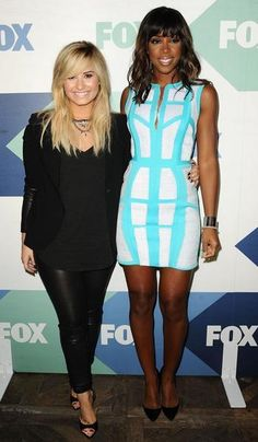 Demi Lovato and Kelly Rowland attend the FOX All-Star Party in West Hollywood