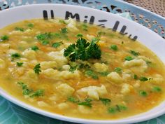 Czech Recipes, Ethnic Recipes, Detox Soup, Soups And Stews, Bon Appetit, Cheeseburger Chowder, Risotto, Food And Drink, Dinner