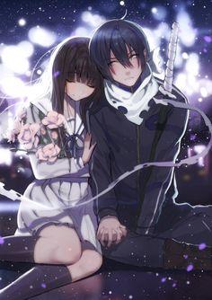 Noragami- Hiyori x Yato Noragami Anime, Anime Neko, Otaku Anime, Noragami Bishamon, Manga Anime, Yato And Hiyori, Me Anime, Anime Love Couple, Cute Anime Couples