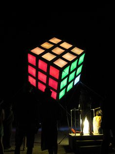 Glowing Rubik's Cube