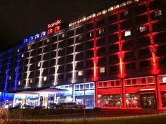 Paris terrorist attacks 11/14/2015: Scandic Hotel in Helsinki on Saturday night was illuminated flag was defined colors.