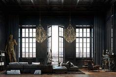 Facility In Black And Gold In A Historic Parisian Apartment | Decor10