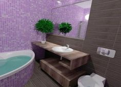 Purple Bathrooms By Franco Pecchioli Ceramica6. See More. Royal Purple  Shade For Extravagant Interiors