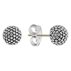 Women's Lagos 'Columbus Circle' Ball Stud Earrings (513.135 COP) ❤ liked on Polyvore featuring jewelry, earrings, sterling silver, sterling silver jewelry, stud earrings, ball stud earrings, sterling silver earrings and beading earrings