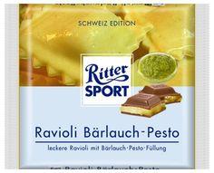 RITTER SPORT Fake Schokolade Ravioli Bärlauch-Pesto