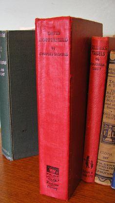 Vintage hardback book David Copperfield Charles Dickens 1956 literary fiction classic novel  60th birthday gift by TheIrishBarn on Etsy