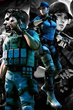 Resident Evil Jill and Chris |