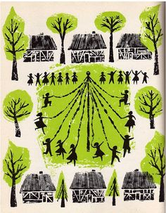 footberries:    Illustration by Helen Borten fromThe First Book of Festivals Around the World(1957)