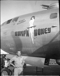 "B-29 Super Fortress ""Hump'n Honey"" nose art"