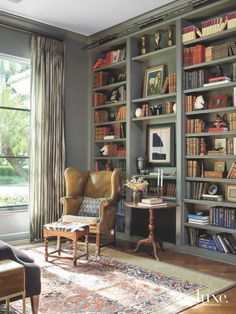 Added value for your home interior design: create a vintage reading area . - Added value for your home interior design: create a vintage reading area – library – - Home Library Rooms, Home Library Design, Home Libraries, Home Interior Design, House Design, Library Ideas, Interior Ideas, Library Wall, Library Books