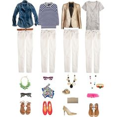 One Key Wardrobe Piece Styled Four Ways: White Skinny Jeans