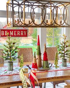 When one or two items inspire your Christmas decor.this gingham check ribbon and these trees…! Ever since I painted my kitchen doors, I've been .
