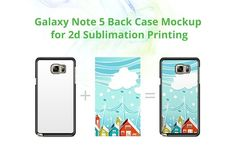 Galaxy Note 5 2d Case Back Mock-up by VecRas on @creativemarket