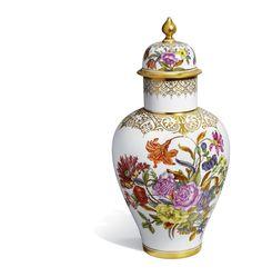 """Deckelvase """"Alte Blumenmalerei von 1730"""", H 46 cm"""
