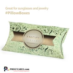 Great for sunglasses, jewelry and other promotional items, our #PillowBoxes are the perfect retail and gift packaging solution. These high quality curved boxes are composed of a durable stock that provides a sturdy casing for the enclosed items.