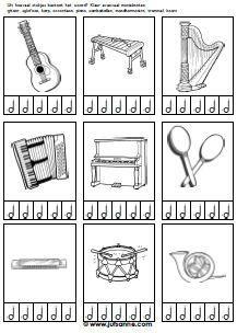 thema muziek kleurplaten - Google zoeken
