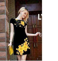 Đầm Suông In Hoa 3D EKV_VD233 - Giá 285.000đ