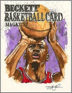 Michael-Jordan-Beckett-Basketball-Original-Artwork-by-Kevin-John-Jobczynski