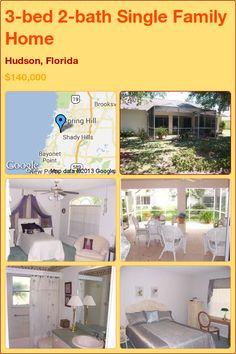 3-bed 2-bath Single Family Home in Hudson, Florida ►$140,000 #PropertyForSale #RealEstate #Florida http://florida-magic.com/properties/5476-single-family-home-for-sale-in-hudson-florida-with-3-bedroom-2-bathroom