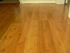 Honey-colored bamboo flooring