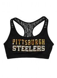 Pittsburgh Steelers Lace Yoga Bra - Victoria's Secret PINK® -