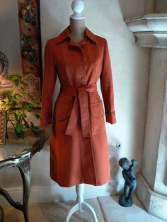 "1970s Rust Rose Jacket the ""Mary Tyler Moore"". $25.00, via Etsy."