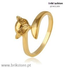 Anel gato banhado ouro 24k Gold Rings, Floral, 1, Jewelry, Fence, Copper, Gatos, Jewellery Making, Jewerly