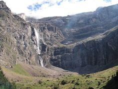 The Gavarnie Falls is a tiered waterfall in France. With its overall drop of 422 metres, it is the highest waterfall in France. Atlantic Beach, French Countryside, Beautiful Waterfalls, France, World Heritage Sites, Alps, Tourism, Beautiful Places, Landscape