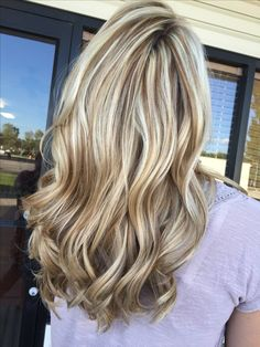 Stunning ice blonde and chocolate brown lowlight.