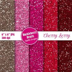 80% OFF SALE Digital Glitter Paper Red and by HuckleberryHearts