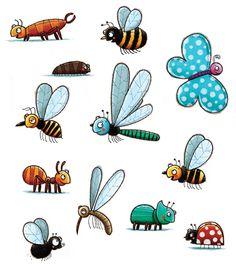 Prenten kriebelbeestjes