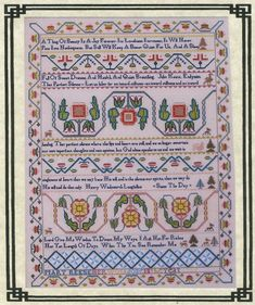 Mary Pets 1831 Reproduction Sampler Queenstown Cross Stitch Pattern