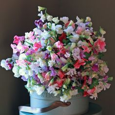 A wonderfully scented bouquet filled, quite simply, with English Sweet Peas.  #sweetpeas  http://www.realflowers.co.uk/mothers-day-collection/luxury-massed-english-sweet-pea-bouquet.html