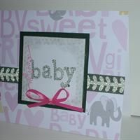Baby, Pink Glitz from Callie's Cards and Crafts