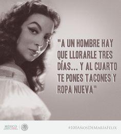 La actriz mexicana #MaríaFélix nació el 8 de abril de 1914 #100AÑosDeMaríaFélix
