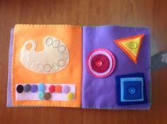 Quiet book, paleta de colores y formas