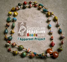 """The Apparent Project artisans guild uses discarded materials such as cereal and cracker boxes, oil drums, and trash paper to create beautiful """"upcycled"""" pieces of jewelry, journals, and stylish home decor. While redeeming the Haitian landscape, these artisans are also bringing new hope to their families, employing themselves for a brighter future and earning the means to pay for their children's food, shelter, and education. That means less orphans, less crime, less garbage, less stress, and…"""