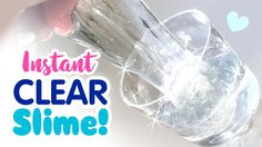 How To Make Crystal Clear Slime With 2 Ingredient! Slime With Glue no borax or flour.All you need to make this slime is glue and Air wick air freshener. Diy Clear Slime, Crystal Clear Slime, Diy Slime, Slime Craft, Water Slime, Borax Slime, Slime No Glue, Glitter Slime, How To Make Crystals
