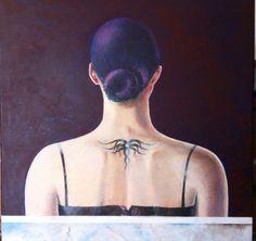 """ninni"" olio di tela 2014 40x 40"