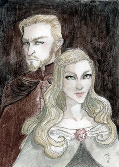 Tywin and Joanna by DiStDi on DeviantArt Familia Lannister, Casterly Rock, Charles Dance, Fire Book, Game Of Thrones Houses, Princess Zelda, Disney Princess, Winter Is Coming, Writing Inspiration