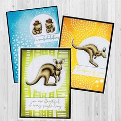 Shop the products Colours Used Copic Markers: Kangaroo – – – Distress Oxides: 'Thinking of You' Card: Spiced Marmalade, Wild Honey and Rusty Hinge'You are Beautiful' Card: Bundled Sage, Peeled Paint and Forest Moss'Wombatula Happy Birthday Beautiful Girl, Aussie Christmas, Handmade Tags, Colouring Techniques, Hero Arts, Copic Markers, Kids Cards, Creative Cards, Cute Cards