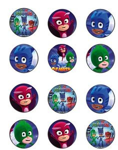 This is your source for TONS of FREE PJ Masks Party Printables. All free, the folks at Mandy's Party Printables have checked each out! Pj Masks Cupcake Toppers, Pj Mask Cupcakes, 4th Birthday Parties, Happy Birthday Banners, Birthday Fun, Birthday Cupcakes, Pj Masks Printable, Party Printables, Free Printables