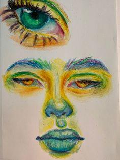 Arte Indie, Indie Art, Art Journal Inspiration, Art Inspo, Oil Pastel Art, Art Diary, Arte Sketchbook, Funky Art, Art Drawings Sketches Simple